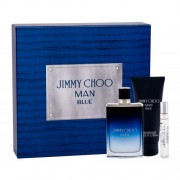 Jimmy Choo Jimmy Choo Man Blue подаръчен комплект EDT 100 ml + EDT 7,5 ml + балсам след бръснене 100 ml за мъже