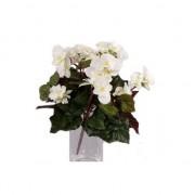 Bellatio flowers & plants Witte Begonia kunstplant 30 cm voor binnen