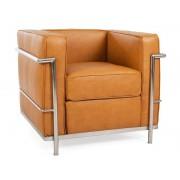 Famous Design LC2 fauteuil Le Corbusier - Caramel