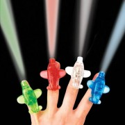 Aeroplane Finger Lights - 8 Small Planes With LED Lights In Multiple Colours. Size: 4.5cm.