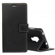 Huawei Litchi textuur horizontale Flip leren Case voor Huawei Mate 20 met houder & kaartsleuven & portemonnee (zwart)