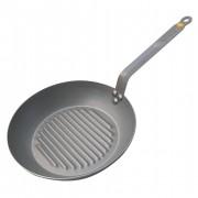 de Buyer Sartén redonda grill de acero mineral B (32 cm)