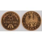 Zlatá mince: 25 Schilling 1928