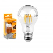 Bot Lighting SHOT Lampadina LED E27 7,5W Bulbo A60 Filamento con calotta cromata