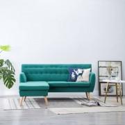 vidaXL Ъглов диван, тапицерия от текстил, 171,5x138x81,5 см, зелен