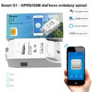 Smart Sonoff G1 - GPRS/GSM diaľkovo ovládaný spínač