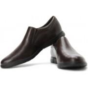 Clarks Denner Step Genuine Leather Slip On Shoes For Men(Brown)