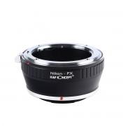 K&F Concept NIK-FX adaptor montura Nikon la Fujifilm FX KF06.101