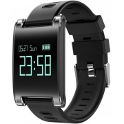 Bratara Fitness iUni DM68 Plus, Bluetooth, Display OLED, Notificari, Pedometru, Monitorizare puls (Negru)
