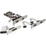 DeLock PCI Express Card > 4x Serial, 1 x Parallel 89177