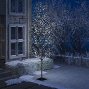 Pom Crăciun, 1200 LED-uri alb rece, flori de cireș, 400 cm
