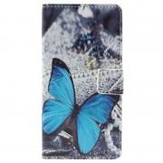 Capa tipo Carteira Stylish para Huawei Honor 7 - Borboleta Azul