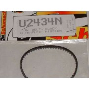 Schumacher U2434 Mi6 Ultraflex Black rear belt 60T x 3.5mm