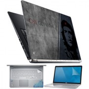 FineArts Che Guevara Grey Blue 4 in 1 Laptop Skin Pack with Screen Guard Key Protector and Palmrest Skin