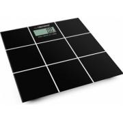 Cantar corporal digital Esperanza Salsa 180 kg LCD 4 senzori suprafata sticla securizata negru EBS004-DC