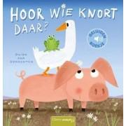 Uitgeverij Clavis Hoor wie knort daar (karton + geluid)
