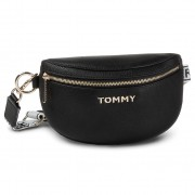 Чанта за кръст TOMMY HILFIGER - Iconic Tommy Bumbag AW0AW08105 Blk BDS