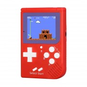 Rs-6 Retro Mini Consola Portatil, 2,5 Pulgadas 8 Bits Color 129 Juegos Retro FC Jugador Del Juego (rojo)
