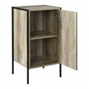 [en.casa]® Komód Parma 78 x 42.5 x 39 cm nappali ajtós szekrény design fekete/fa