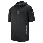 Nike Dri-FIT Therma (NFL Raiders) Kurzarm-Oberteil mit Kapuze für Herren - Schwarz