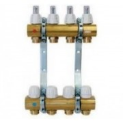Distribuitor/colector alama cu debitmetre CAPRICORN 7 circuite Optimum 1 pentru incalzire in pardoseala