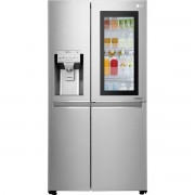 Frigider Side by Side LG GSX961NSAZ, No Frost, InstaView Door-in-Door™, 601 L, Clasa A++, Dozator apa/gheata, H 179 cm, Inox