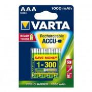 Tölthető elem, AAA mikro, 4x1000 mAh, VARTA Professional Accu