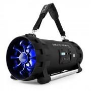 Auna Soundstorm Altavoz Boombox bluetooth con batería negro/naranja