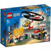 Конструктор Лего Сити - Реакция с пожарен хеликоптер, LEGO City Fire 60248