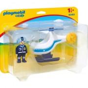 Set Playmobil 1.2.3 - Elicopter De Politie 9383