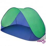 vidaXL Vanjski sklopivi šator za plažu vodootporna zelena tenda