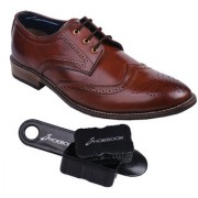 Shoebook Mens Brown Brogue Shoes