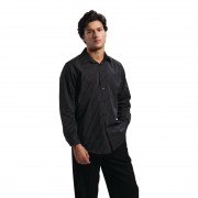 Chef Works Long Sleeve Shirt Pinstripe S Size: S