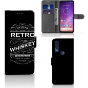 Motorola One Vision Book Cover Whiskey