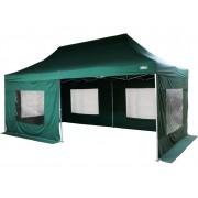 Záhradný párty stan - zelený 3 x 6 m + bočné diely