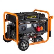 Generator de curent trifazat STAGER GG 7300-3EW, 6.3 kW, benzina, pornire electrica