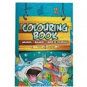 Nature Plush Planet Zeedieren speelgoed artikelen kleurboeken/tekenboeken A4 formaat