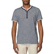 ESPRIT T-Shirt mit Henleyausschnitt, Lagenlook