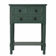 Decor Therapy Antique Teal 3-Drawer Console Accent Table