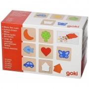 Joc de memorie Texturile Goki, 6 x 6 cm, 32 piese