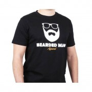 Bearded Man t-shirt Logo Glasses Black T-Shirt - Bearded Man - Svart T-shirt