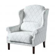 Dekoria Fotel Unique, szaro-białe wzory marokańskie, 85 × 107 cm, Comics