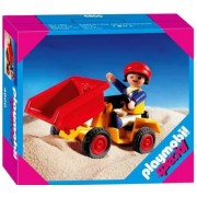 Playmobil Child Tipping with Tractor