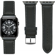 "Frans Top kwaliteit ""sports"" Apple watch horlogebandje Zwart (42mm) zwarte adapter"