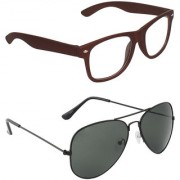 Zyaden Combo of Two Sunglasses- Pack of 2