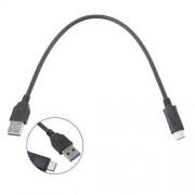 Adatátviteli kábel / USB töltõ - USB 3.0 Type C - FEKETE - 30cm