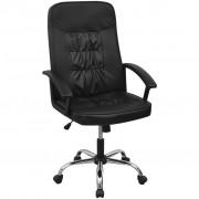 vidaXL Scaun de birou din piele artificială 67 x 70 cm, negru