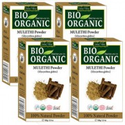 Indus Valley Bio Organic Mulethi(Licorice Root) Powder-Set of 4