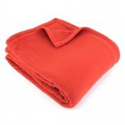 Linnea Couverture polaire 240x260 cm 100% Polyester 350 g/m2 TEDDY Rouge Terracotta