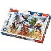 Puzzle clasic pentru copii - Avengers pregatiti pentru salvarea lumii 160 piese